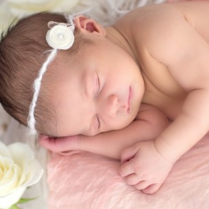 Here is a sleeping baby captured by photographer Megan at our Wilmington studios.