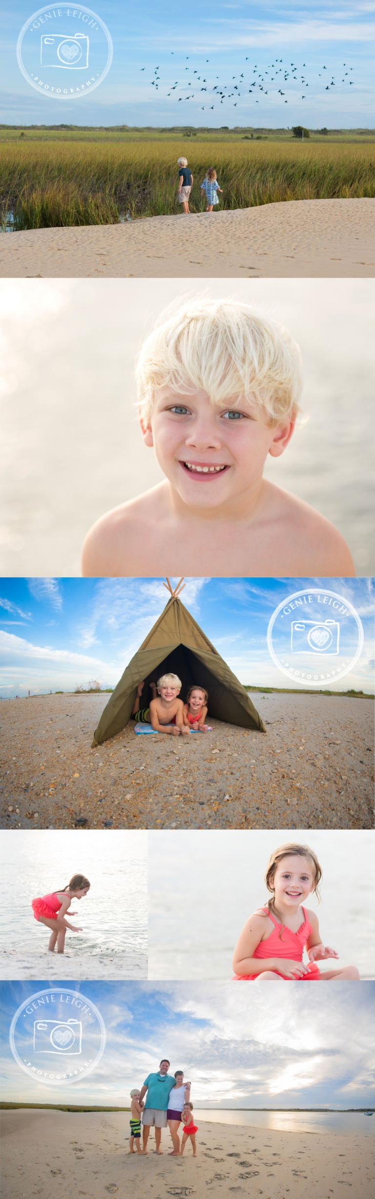 Wrightsville Beach, NC Family Beach Session Lifestyle Genie Leigh Photography