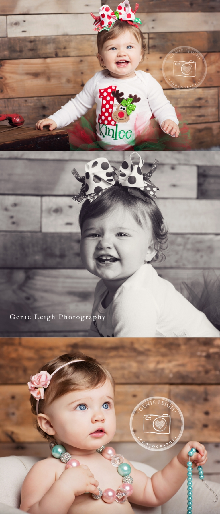 Genie Leigh Photography, First Birthday Session, Holiday, Studio Wilmington, NC