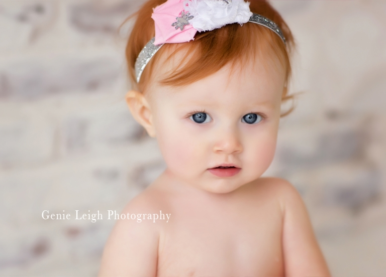 Birthday Cake Smash, Baby, Genie Leigh Photography Studio, Wilmington NC Shallotte NC, Child Portrait Photographer