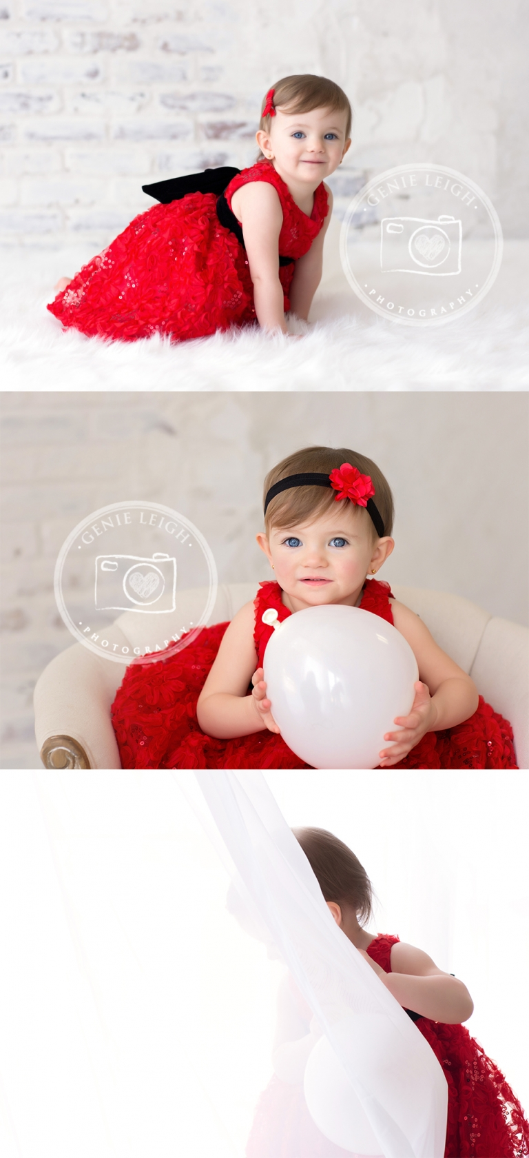 Genie Leigh Photography, Valentines Day, Red Dress, Studio, Wilmington, NC Shallotte, NC
