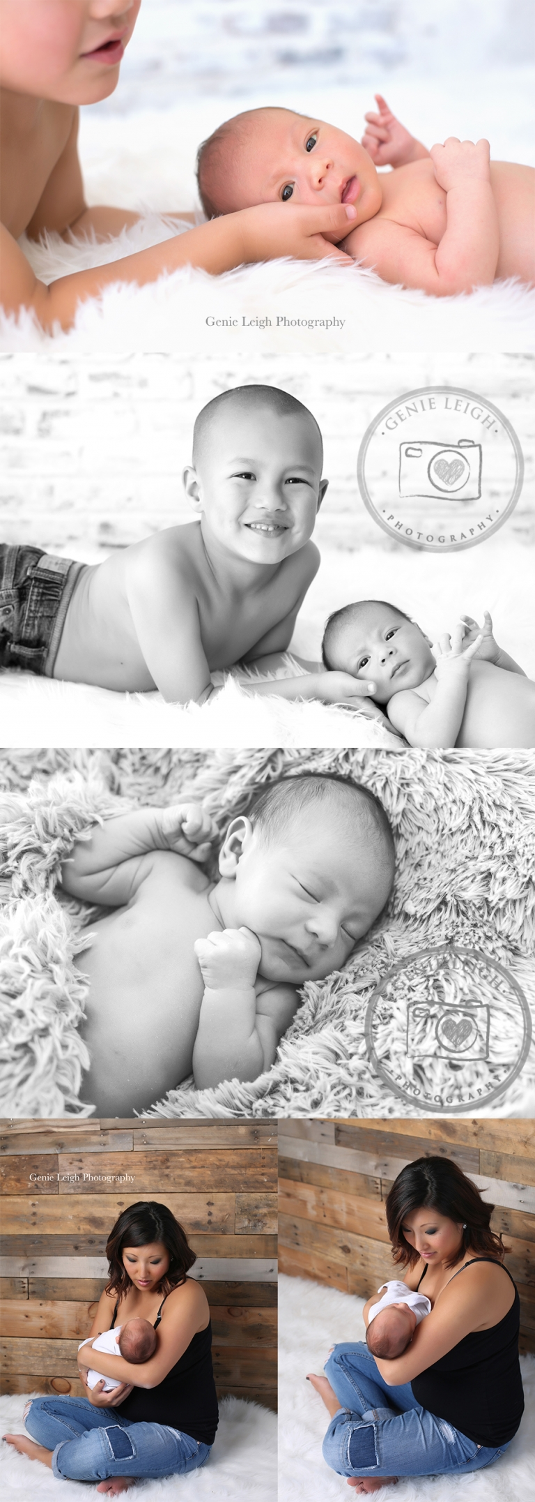 Newborn, Studio, Family, Photography, Session, What to wear, Natural, Simple Family Pose, Big Brother, Sibling Photo session, Genie Leigh Photography