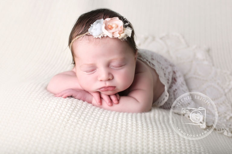 Olivia, Genie Leigh Photography, Newborn Session, Studio, Wilmington, NC