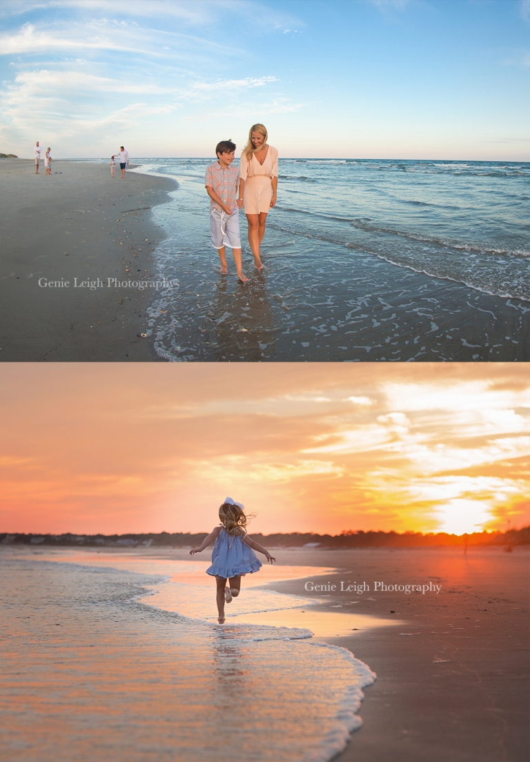 Holden Beach, NC, Genie Leigh Photography, Family Beach Session, Well Dressed Wolf