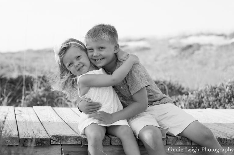 Bald Head Island, NC Family Beach Session, Genie Leigh Photography, Sunset, Beach, Coastal NC