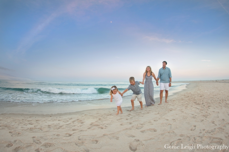 Bald Head Island Nc Family Beach Session Genie Leigh Photography Sunset
