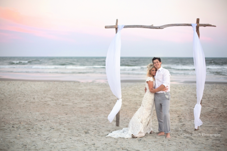 Holden Beach Nc Wedding Coastal Genie Leigh Photography
