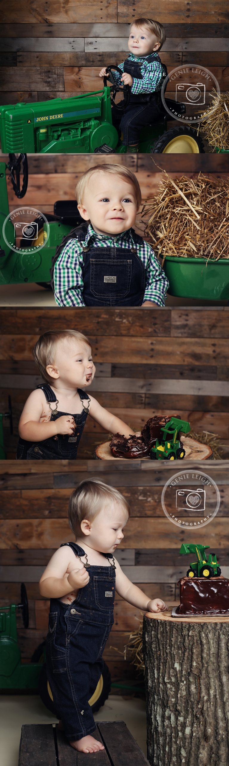 John Deere Cake Smash Birthday Session, Genie Leigh Photography Studios