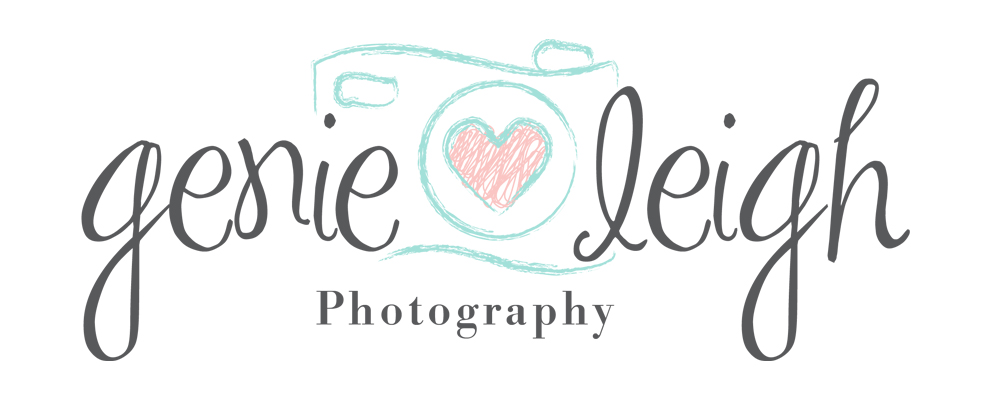 Genie Leigh Photography – Child, Family & Wedding Photographers Bald Head Island, NC – 910-470-0456 logo